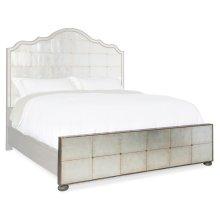 Bedroom Arabella 5/0 Mirrored Panel Footboard