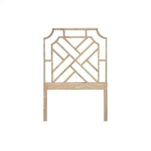 Worlds AwayChippendale Style Twin Bamboo Headboard In Cerused Oak