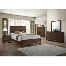 Brandon Transitional Medium Brown Queen Bed