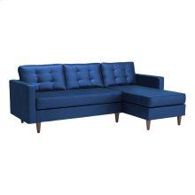 Puget Sectional Dark Blue Velvet