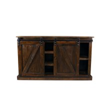 Barn Door Cowboy Plasma TV Stand