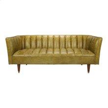 Barin Leather Sofa Green