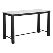 Dawson Bar Table Faux Marble & Matte Black