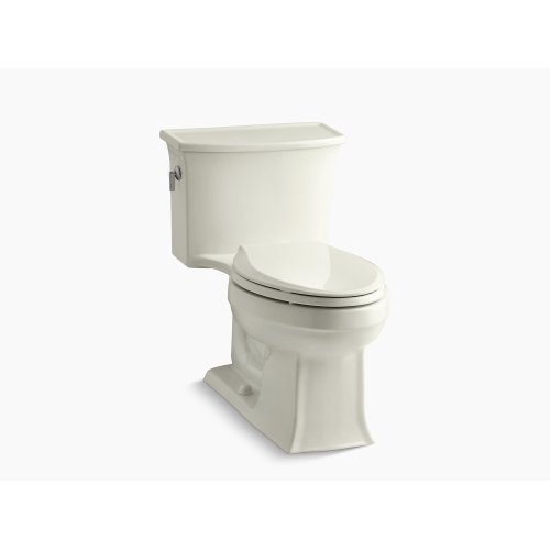 Biscuit One-piece Elongated 1.28 Gpf Toilet With Aquapiston Flush Technology and Left-hand Trip Lever