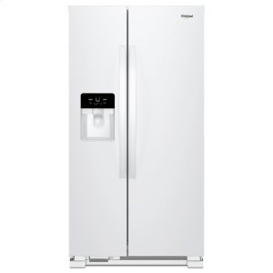 36-inch Wide Side-by-Side Refrigerator - 25 cu. ft. - WHITE