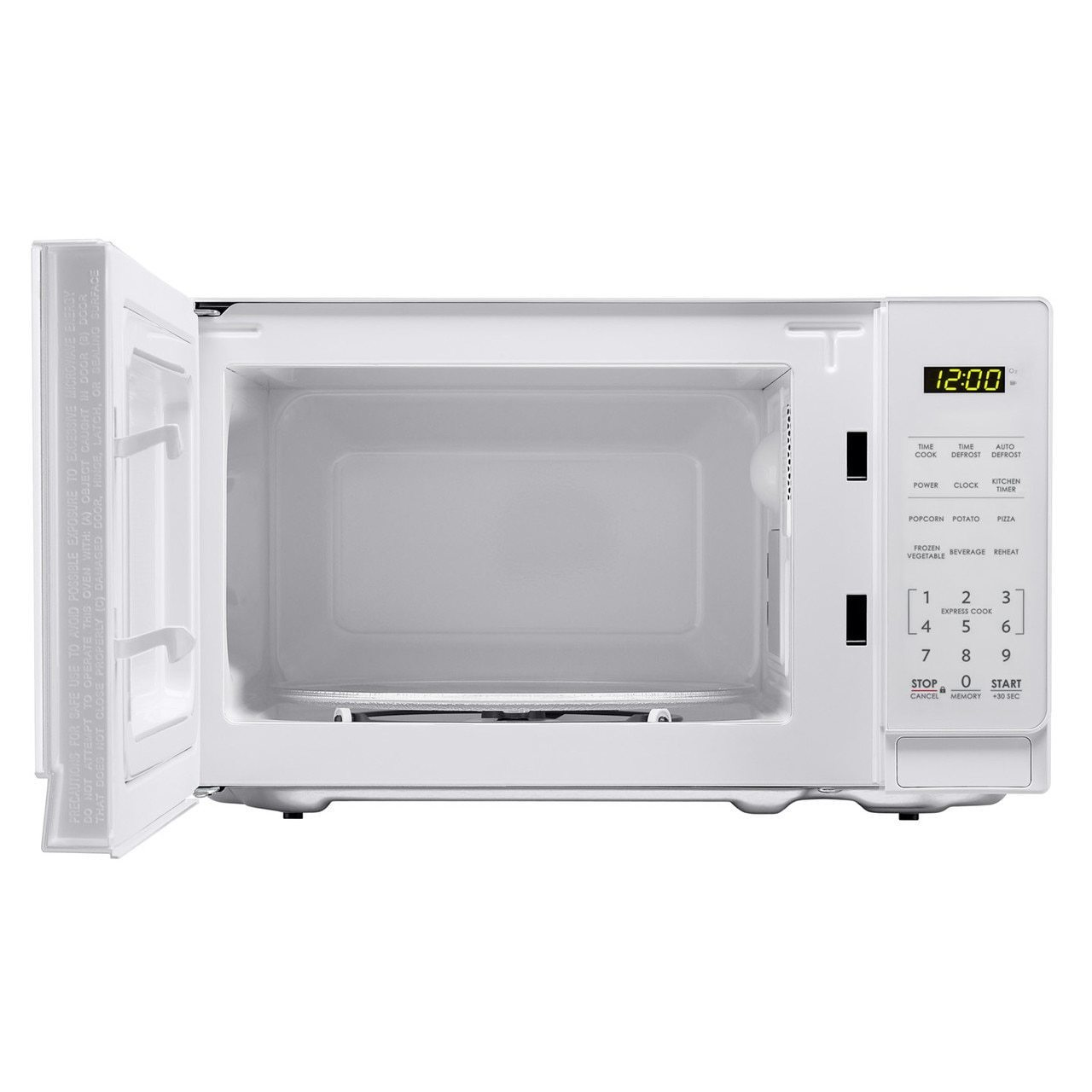 Smc0710bw Sharp Appliances 0 7 Cu Ft 700w Sharp White Carousel Countertop Microwave Oven Schaefer S