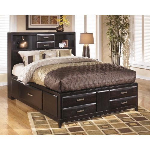 Kira - Almost Black 3 Piece Bed Set (Queen)