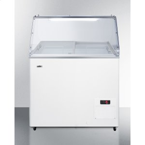 """Summit30"""" Wide Fully Assembled Commercial Dipping Cabinet Made In Europe With Digital Thermostat, Sneezeguard, and Light"""