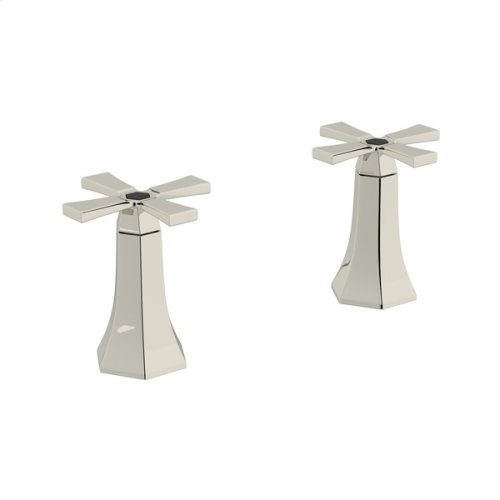 "Polished Nickel Bellia Set Of Hot & Cold 1/2"" Sidevalves"