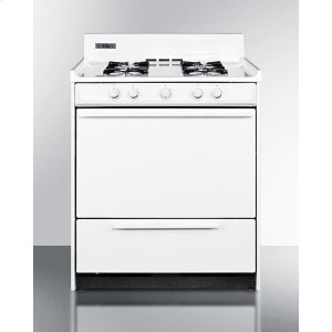 "Summit30"" Wide White Gas Range With Battery Start Ignition"