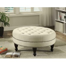 Traditional Round Cocktail Ottoman
