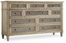 Bedroom Sanctuary Ten Drawer Dresser-Pearl Essence