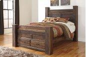 Quinden - Dark Brown 5 Piece Bed Set (Queen)