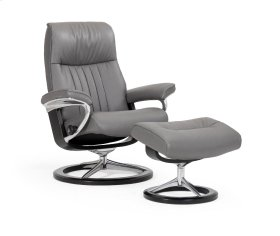 Stressless Crown Medium Signature Base Chair and Ottoman