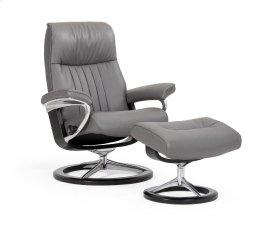 Stressless Crown Medium Signature Base Chair and Ottoman