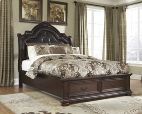 Caprivi Queen Padded Storage Bed