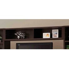 Contemporary Cappuccino Entertainment Unit Bridge
