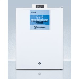 SummitCommercially Approved Nutrition Center Series Compact All-freezer In White With Front Lock and Nist Calibrated Digital Temperature Display
