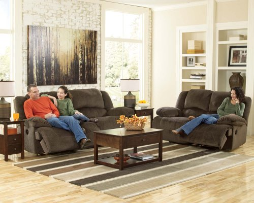 Toletta 2 Seat Reclining Power Sofa - Chocolate
