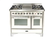 "True White 40"" Griddle Top Majestic Techno Dual Fuel Range"