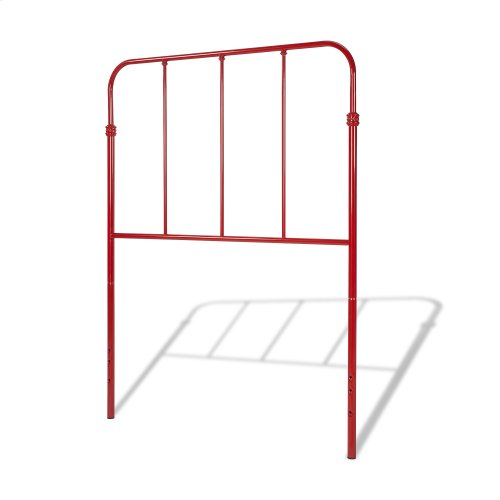 Nolan Fashion Kids Metal Headboard and Footboard Bed Panels with Fun Versatile Design, Candy Red Finish, Full