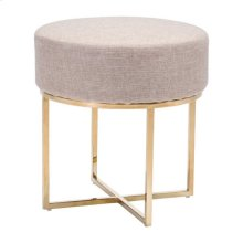 Bon Stool Beige & Stainless