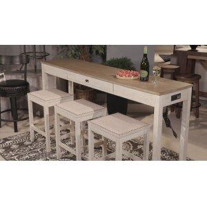 Ashley FurnitureSIGNATURE DESIGN BY ASHLEYRect Drm Counter Tbl Set(4/cn)