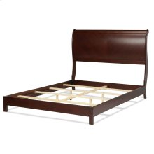 Bridgeport Platform Complete Bed with Curved Sleigh Headboard, Espresso Finish, California King