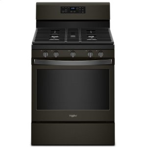 Whirlpool5.0 cu. ft. Freestanding Gas Range with Center Oval Burner Black Stainless