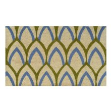 Doormat Clovis Blue/Green 18x30