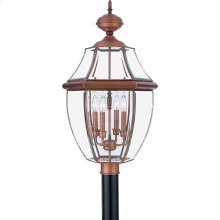 Newbury Outdoor Lantern in Aged Copper