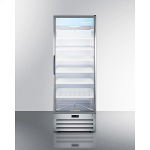 SummitFull-size Pharmaceutical All-refrigerator With A Glass Door, Lock, Digital Thermostat, and A Stainless Steel Interior and Exterior Cabinet
