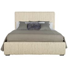 King-Sized Stanhope Upholstered Bed in Smoke