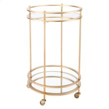 Round Bar Cart Gold