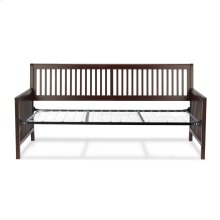 Mission Complete Wood Daybed with Open-Slatted Panels and Link Spring, Espresso Finish, Twin