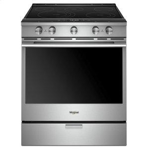 6.4 cu. ft. Smart Slide-in Electric Range with Scan-to-Cook Technology - FINGERPRINT RESISTANT STAINLESS STEEL