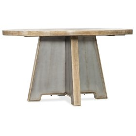 Dining Room Urban Elevation 54in Metal Dining Table