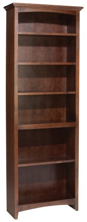 "CAF 72""H x 24""W McKenzie Alder Bookcase in Cafe Finish Product Image"