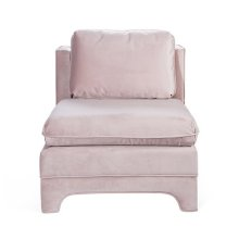 Slipper Chair In Blush Velvet