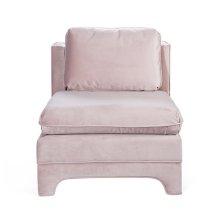 Slipper Chair In Blush Velvet