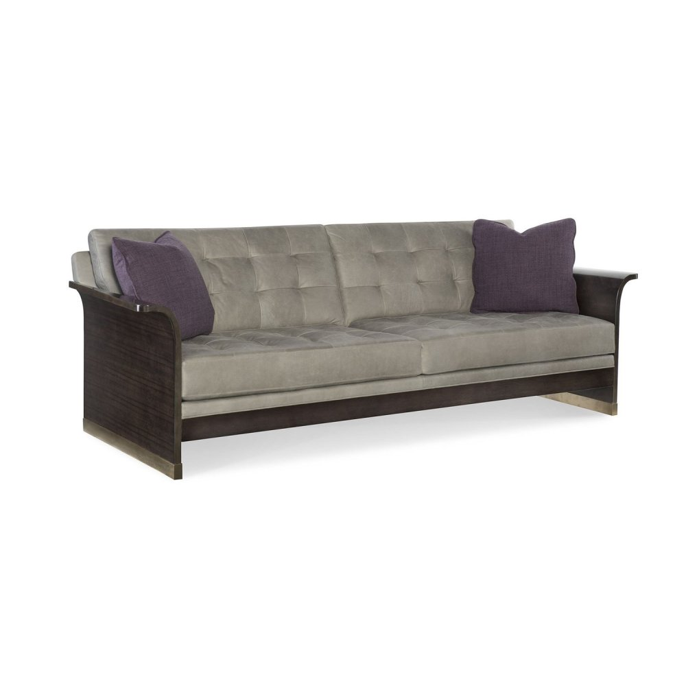 Dmitry Leather Slab End Sofa