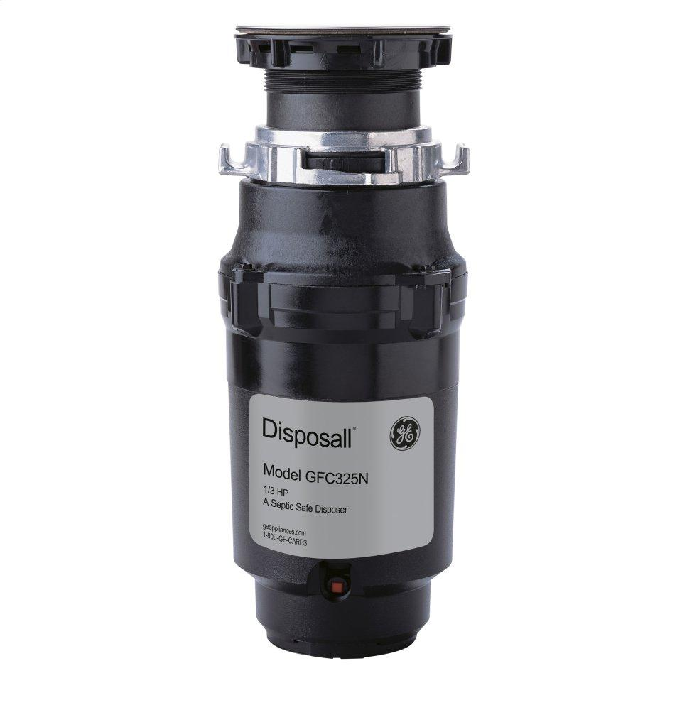 GE1/3 Hp Continuous Feed Garbage Disposer - Corded