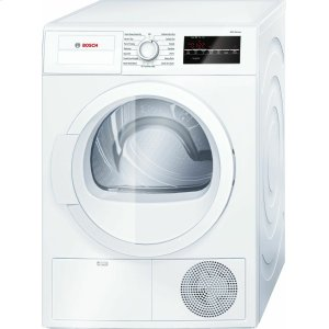 Bosch300 Series Cond. Dryer - 208/240V, Cap. 4.0 cu.ft., 15 Cyc.,67 dBA Galv.Drum, White/Door Non-Rev.