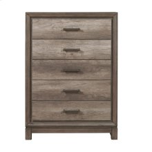 5 Drawer Chest in Elm Brown