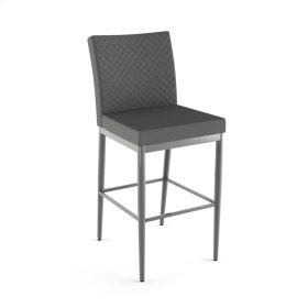 Monroe Non Swivel Stool With Quilted Fabric