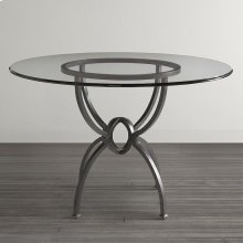 """Custom Dining 60"""" Copper Table w/Turned Base"""