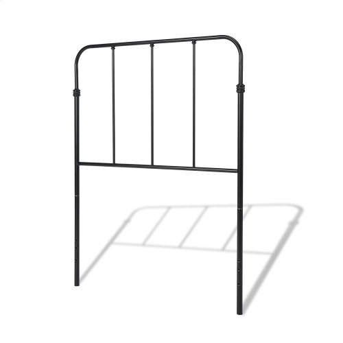 Nolan Kids Bed with Metal Duo Panels, Space Black Finish, Twin