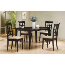 Gabriel Cappuccino Dining Table