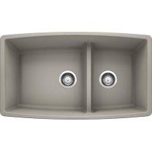 Blanco Performa 1-3/4 Medium Bowl - Concrete Gray