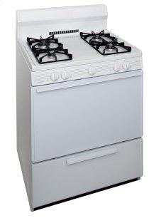 30 in. Freestanding Sealed Burner Spark Ignition Gas Range in White